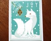White Fox Holiday card