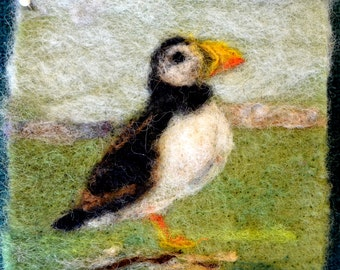 "093 ""Atlantic Puffin"" Thyme Tile Needle Felting Kit"
