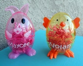 Personalized Easter Egg-Easter Chick Egg- Easter Bunny egg-Easter Basket-Easter Egg Hunt-Easter Basket-Personalized Gift for kids