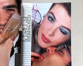 Harper's Bazar August 1984 Issue - 80s Fashion Magazine - Edit w/ Dior Chanel Falchi Versace Ungaro - Verushka Linda Gray Joan Collins