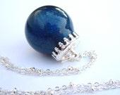 CbL Addicts Blue Me Away Holo Globe Nail Polish Pendant Necklace - Nail Polish Jewelry