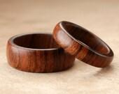 Custom Matching Tamboti Wood Rings - 8mm & 5mm