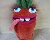 Ms Carrots, funny monster pillow, red plush toy monster, home decoration, nice stuffed toy, pillow for traveling