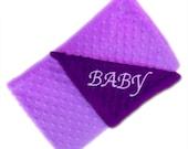 Minky Baby Blanket,  Personalized Purple Lavender Stroller