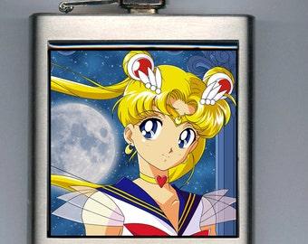 Super Sailor Moon Inspired Liquor Hip Flask