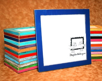 12x12 picture frame, colored frame, Square photo Frame, weathered frame, Distressed frame, colorful frame, shabby frame, 67 colors