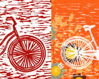 Mixed Set of Bicycle Notecards