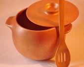 Micaceous Pottery 4.25 Qt., Classic Bean Pot/Casserole