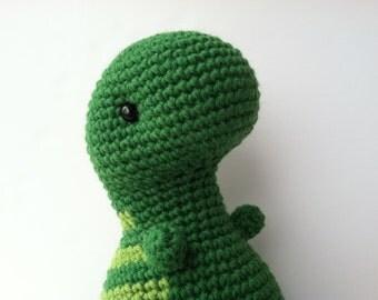 Amigurumi Crochet Palm & Green Apple T-Rex Plush Toy Kawaii Plush Dinosaur Stuffed Animal Gift For Teens T-Rex Dinosaur Toy Gift For Kids
