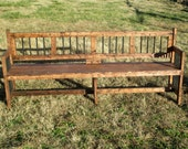 Extra Long Reclamed Wood Bench -  Rustic Furniture For indoor or outdoors - Garden Bench