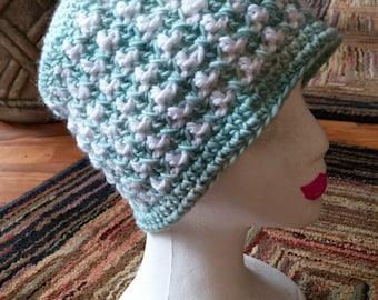 Minty Crochet Hat