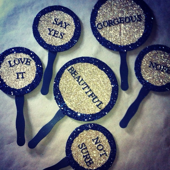 Wedding Dress Shopping Paddles So You Can Say Yes To The