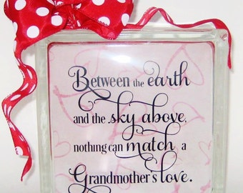 Grandmother's Love Quote Saying Clip Art  Digital files SVG Vector. PDF, dxf, png, & Studio for Cameo Silhouette Studio Software