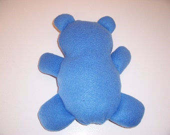 Flat teddy bear - blue