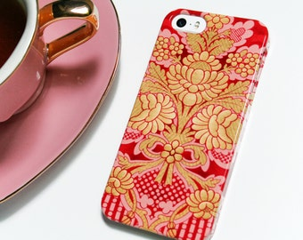 Pink iPhone 6S Case, Girly iPhone 5S Case, Damask iPhone 6S Plus, Pink and Gold iPhone 6 Plus Case for Girls