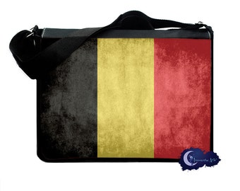 Flag of the Belgium -  Messenger and Laptop Computer Bag
