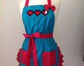 Heart Container Embroidered Apron
