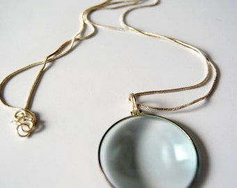 magnifying glass Monocle Lens Necklace