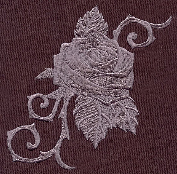 Rose Embroidered Towels: Baroque Punk Rose Embroidered Terry Kitchen Towel Bathroom