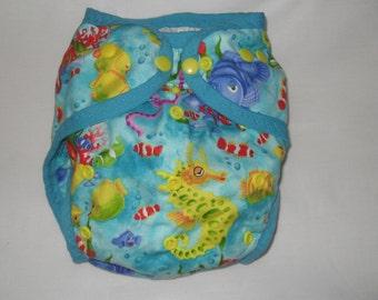 Fish  PUL Diaper Cover