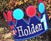 Boys  Bi Plane Birthday Crown