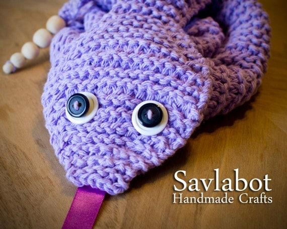 Snake Scarf Knitting Pattern : knit pattern PDF snake scarf scarf pattern knit scarf