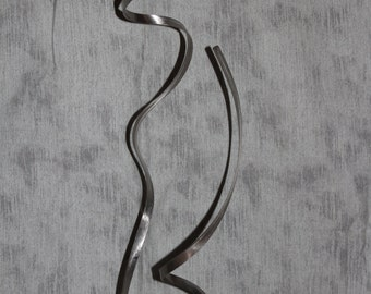 Modern Abstract Stainless Steel Metal Sculpture Garden Sculpture In/Outdoor by Andre'