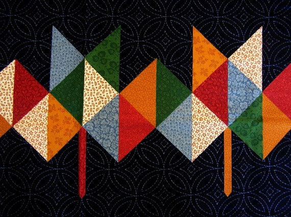 Fabric Panel Quilt Quilting Concord Autumn Fall Leaves