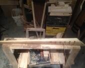 Custom White Ash Floating Shelf with key hanger
