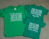 Set Of 3 Big Brother Shirts Professional/training/again Also Available For Sister