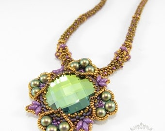 Four Corners Necklace - Beading Pattern/Tutorial Downloadable PDF