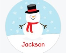 Snowman Plate - Personalized Plate for Kids - Personalized Christmas Plate