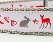 Woodland Creatures - Dog Collar / Adjustable / Handmade / Pet Accessories / Gift Idea / Pet Lover / Fox / Moose