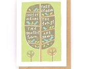 This Is Where The Music's Sown, This Is Where The Songs Are Sown - Greeting Card (2-9C)