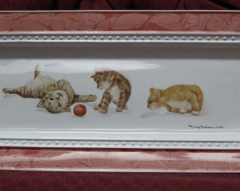 Serving Tray, Porcelain,  Hand Painted