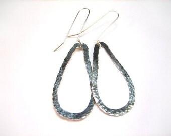 Forged Tear Earrings
