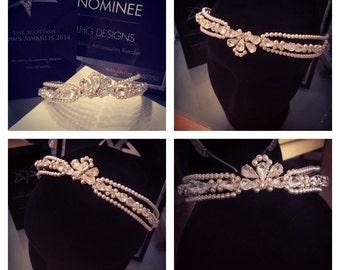 Bridal headpeice, bridal headband, bridal tiara, bridal hair accessories, wedding, art deco, browband, bridal crown