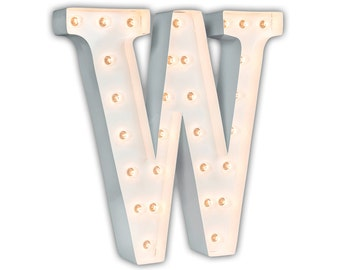 "Letter Light W - WHITE - 24"" Vintage Marquee Lights-The Original!"