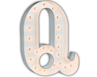 "Letter Light Q - WHITE - 24"" Vintage Marquee Lights-The Original!"