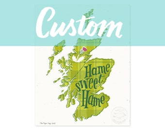 CUSTOM Country/State Illustrated Art Print