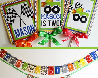 Monster Truck Birthday Party Decorations Fully Assembled