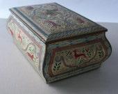 Decorative Vintage Tin ~ Made in England ~ Metal Box