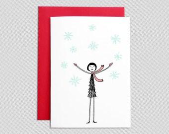 Winter Card // Christmas snowfall holiday card