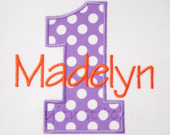 Personalized Birthday shirt or bodysuit, Number 1-9 available, Different Fabrics available, girl, boys, 1st birthday shirt