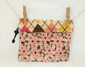 Reversible Project Bag,Argyle and Flowers, Medium
