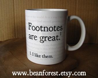 footnotes - grammar mug grammar gifts for teacher book lover mug funny reading gifts english teacher mug geekery mug punctuation 11 oz mug