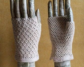 Fingerless Crochet Gloves - Bobble design