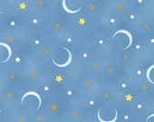 "POPCORN The Bear,  Moon and Stars,  Quilting Treasures  36"" x 42"" 100% Cotton  RESERVED For Sarah"