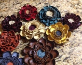 Eye Catching Leather Flowers