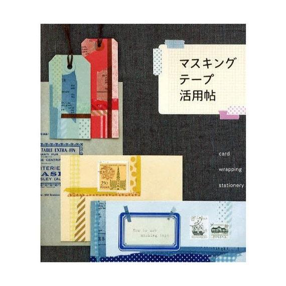 How to use masking tape card wrapping stationery - Masking tape utilisation ...